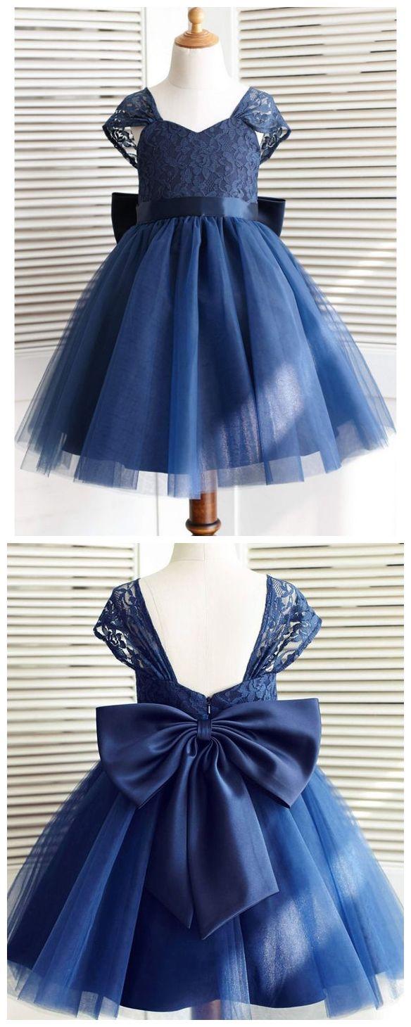 Navy Blue Toddler Flower Girl Dresses Lace Flower Girl Dress With Bow Ard1291 Toddler Flower Girl Dresses Flower Girl Dress Lace Flower Girl Dresses Tulle