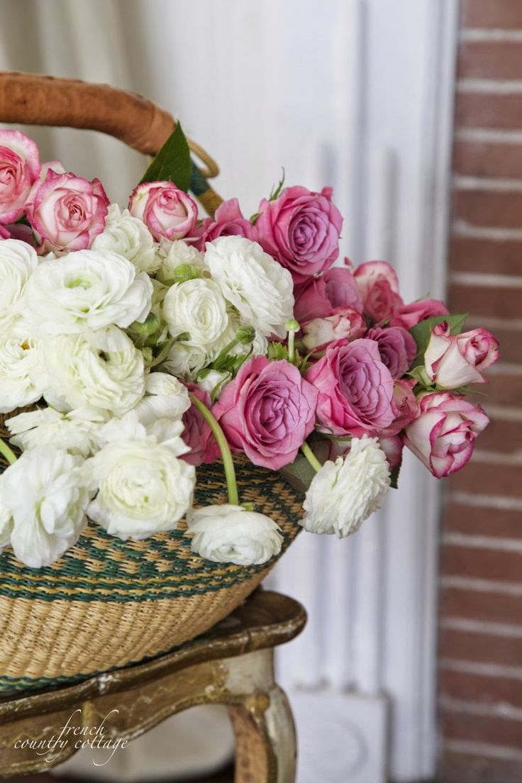 41 best Baskets | Of | Pretties images on Pinterest | Flower baskets French Country Rose Garden Designs on french country vegetable gardens, french country rose art, french country trees, french country flower, french country cottage gardens,