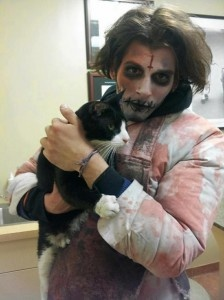"""zombie"" rescues cat....only in NYC!"