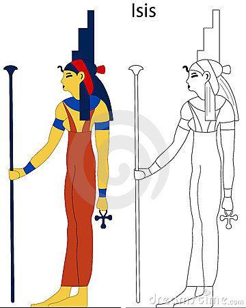 Alte ägyptische Göttin - Isis