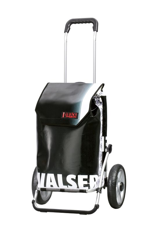 You can order a bespoke Andersen trolley with choice of frame, wheels, bag and extras from easy-trolley.com. This is one of the recycled truck tarpaulin bags.