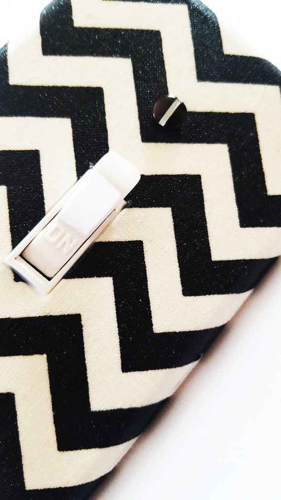 Black Chevron Light Switch Cover / Black and by PrettySwitches