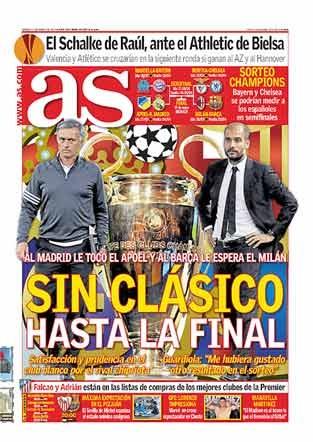 Las portadas deportivas mundiales de este sábado 17 de marzo de 2012: http://www.elenganche.es/prensa