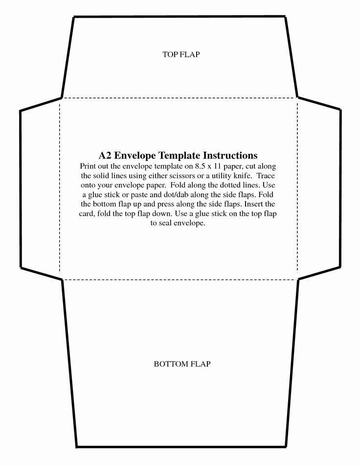 5x7 Folded Card Template For Word In 2021 Envelope Template Envelope Template Printable Free Printable Envelopes
