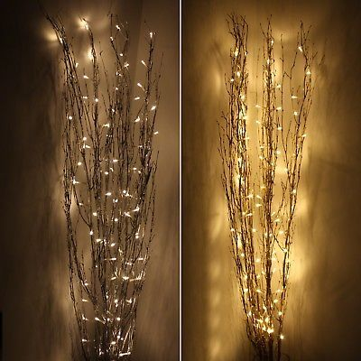 1.2M Holograph Glitter Twig Light - metallic, warm white, LED, fairy light, fest