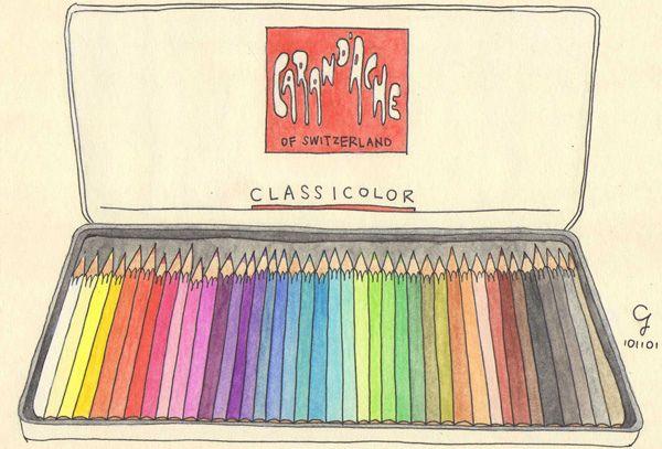 卡達水彩色鉛筆 Caran d'Ache Colour Pencils