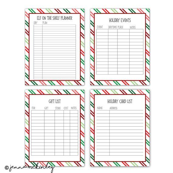 printable christmas organization planner binder sheets