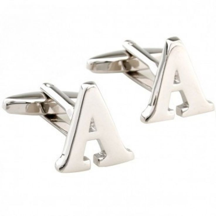 a z silver letter cufflinks silver initial a letter cufflink for men french shirt wedding cufflinks free shipping