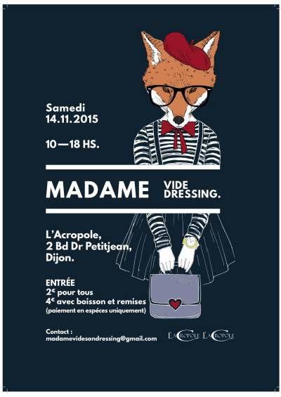 affiche MADAME VIDE DRESSING