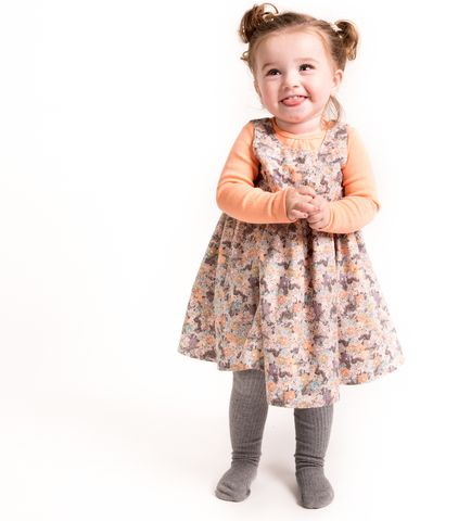 Pinafore Wrinkles Bamboo Print Dress up your kids in clothes that are built to play in!  #wheatkids #fallforwheat #builttoplay