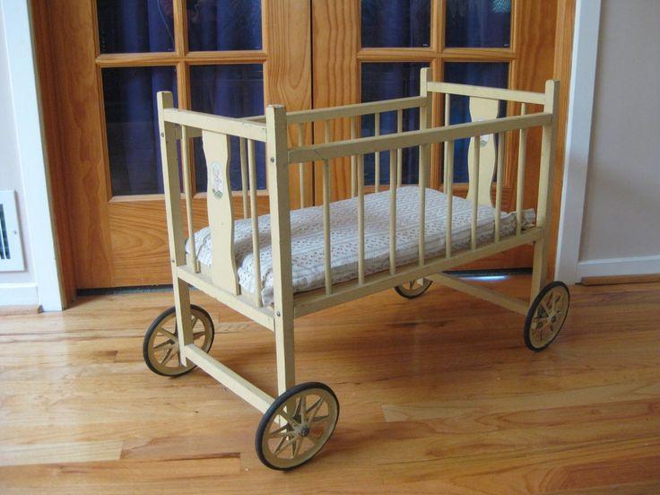 1930s 1940s Kewpie Doll Baby Crib Vintage Antiques
