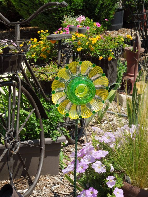 The 31 best images about garden art made with recycled - Recycled glass for gardens ...