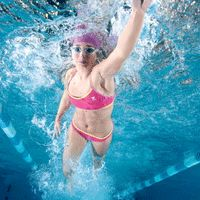Swimming workouts for runners... until my knee injury heals.