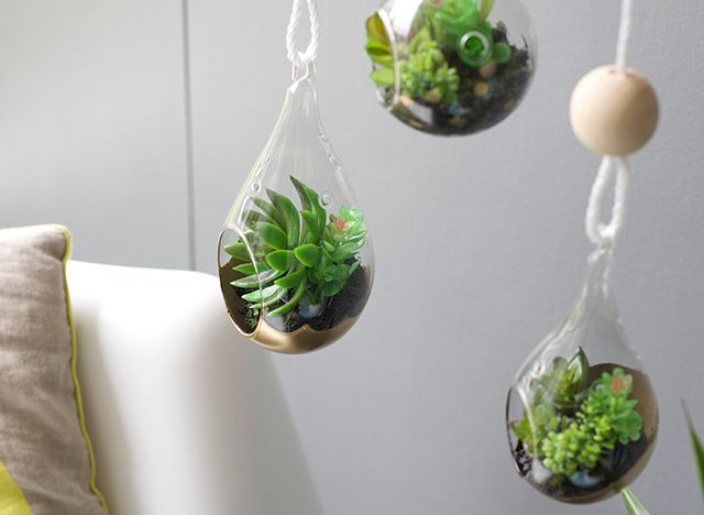 Diy gold terrarium hangers from the reject shop easy for Handmade useful items