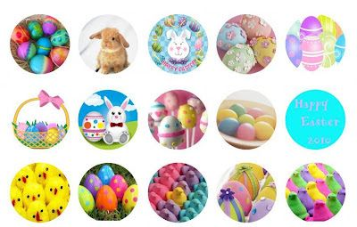 Free Bottle Cap Images: Easter bottle cap images free