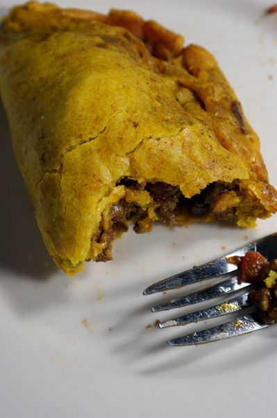 Jamaican patty - National dish of Jamaica. Pastry filled with ground meat, vegetables or cheese.