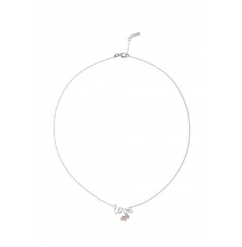 LADY LOVE Mid-length necklace with AGATHA Paris Lady Scottie dog and flush-set stone from the AGATHA Paris Lady Scottie Collection - NZD $202