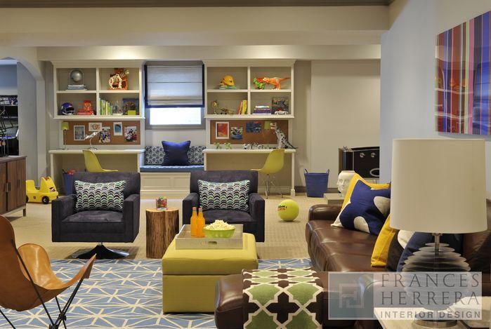 Rec Room Design Ideas | interior design professional designer eclectic game rec room design ...