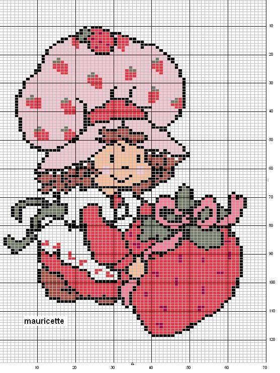 Free Strawberry Patch Kids Cross Stitch Chart