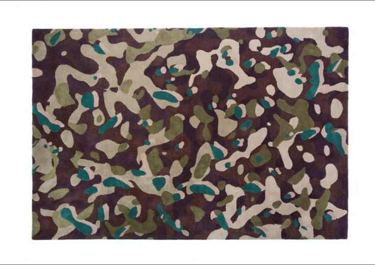 camouflage macro #designer alberto artesani, collection year 2012, FEATURES  handtufted, PILE HEIGHT 10 mm, MATERIAL wool, PRODUCTION AREA  India, SHAPE AND DIMENSION 200x300 cm. http://nodusrug.it/it/collezione_tappeti_scheda.php?ID=CARM1