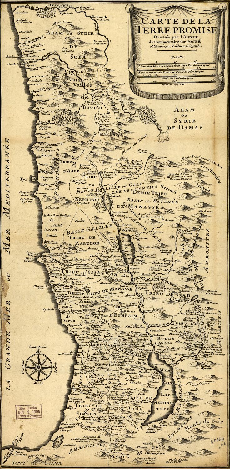 Liebaux's Map of the Holy Land (1720)
