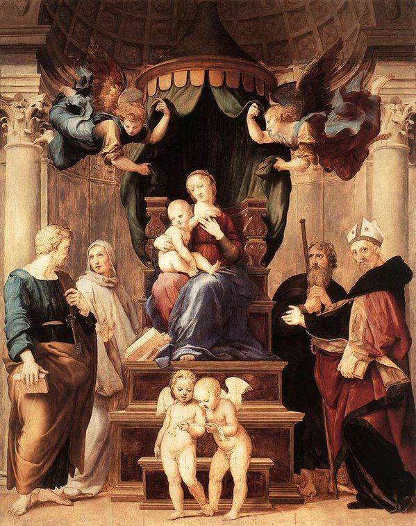 Raffaello Madonna del Baldacchino 1507-1508 Galleria Palatina  Firenze