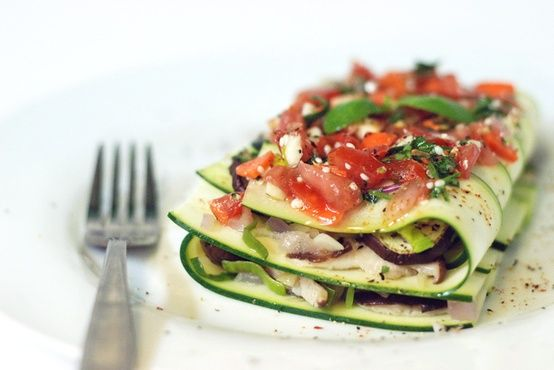 prettybalanced:    Zucchini 'Lasagna' with Eggplant and Shiitake Mushrooms