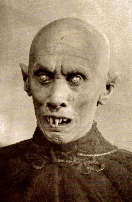 Nosferatu, a silent film from Germany in 1922. Max Schreck as Dracula still makes most later vampires look like wimps. Totally creepy film.