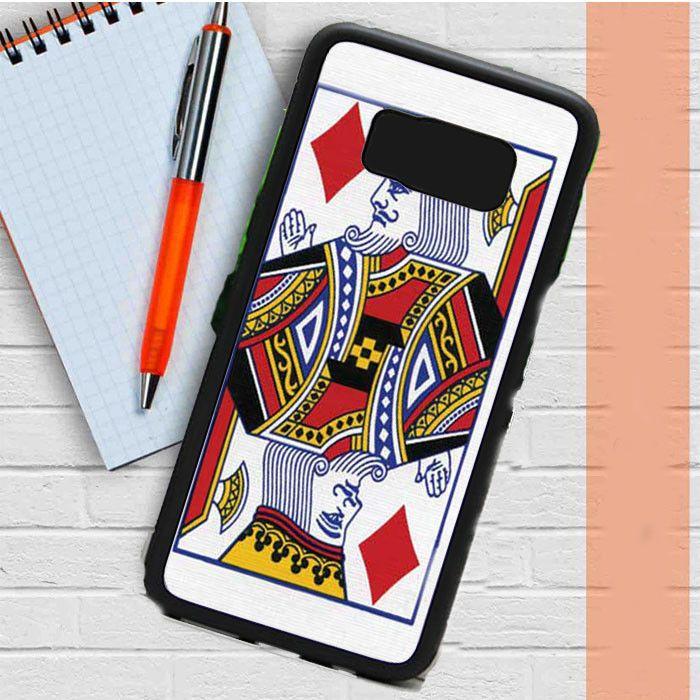 King Of Diamonds Playing Card Samsung Galaxy S8 Plus Case Dewantary