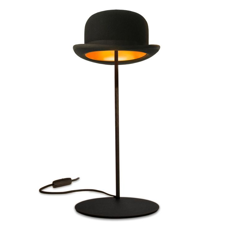 jeeves bowler hat table lamp by jake phipps innermost u2013 funky lamp shades - Lamp Shades For Table Lamps