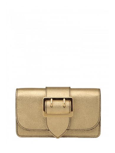 BURBERRY Burberry Mini Borsa In Pelle Metallizzata. #burberry #bags #shoulder bags #
