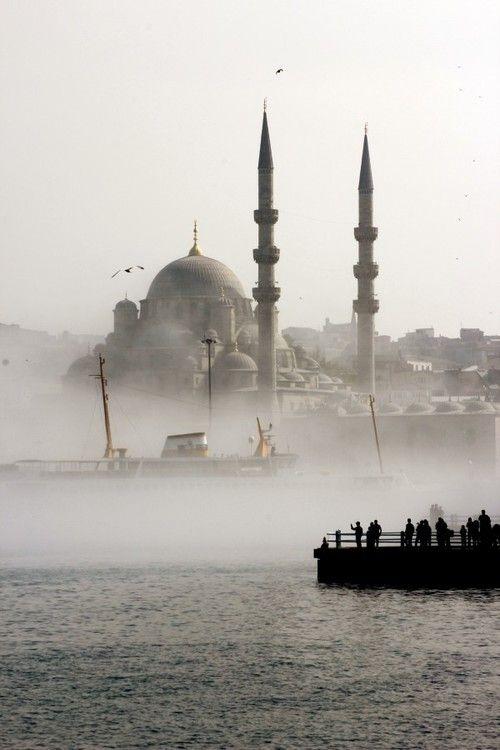 Misty Istanbul, Turkey