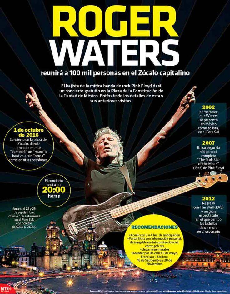 #Infografia Roger Waters reunirá a 100 mil personas en el Zócalo capitalino El bajista de la mítica banda de rock Pink Floyd dará un concierto gratuito en la Plaza de la Constitución de la Ciudad de México.  Entérate de los detalles de esta y sus anteriores visitas.  Fuente: Notimex  @Candidman   #Infografias México Musica Personajes Candidman Ciudad de México Concierto Infografía Música Octubre Pink Floyd Plaza de la Constitución Rock Roger Waters Zócalo @candidman
