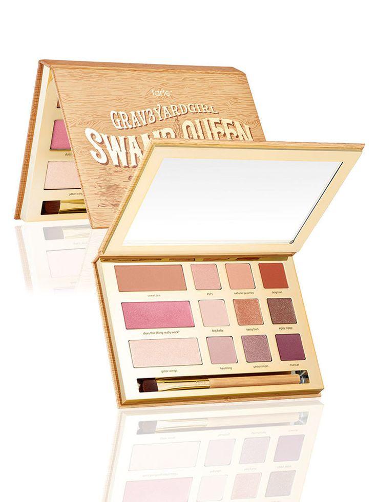 http://www.revelist.com/makeup/best-eye-shadow-palettes-2016/4174/Tarte x Grav3YardGirl Swamp Queen palette ($45)/19/#/19