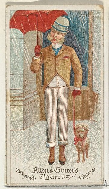 Allen & Ginter (American). London, from World's Dudes series (N31) for Allen & Ginter Cigarettes, 1888. The Metropolitan Museum of Art, New York. The Jefferson R. Burdick Collection, Gift of Jefferson R. Burdick (63.350.202.31.1)