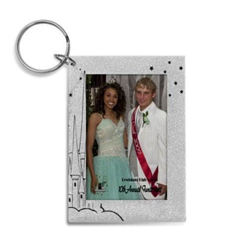 Silver Fairytale Glitter Key Chains