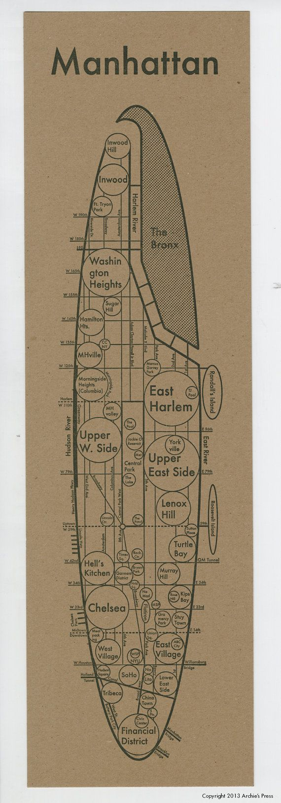 Best  Manhattan Map Ideas On Pinterest - Nyc map to print