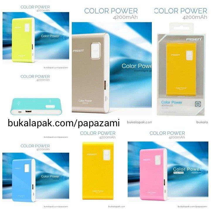 *** 18 months warranty *** Ada 7 pilihan warna powerbank Pisen Color Power 4200mAh: Rosy Pink, Lemon Yellow, Lake Water Blue, Gold Navel Orange, Champagne Gold, Blue Green, Apple Green. Kualitas terbaik dari Pisen dengan garansi 18 bulan. Harga cuma 180 rb..  Online shopping: www.bukalapak.com/papazami  Fast Order: HP/WA/TG: 0815-1100-6400 BBM: 5E2E9F7F LINE ID: papazami  #pisen #powerbank #papazami #onlineshop