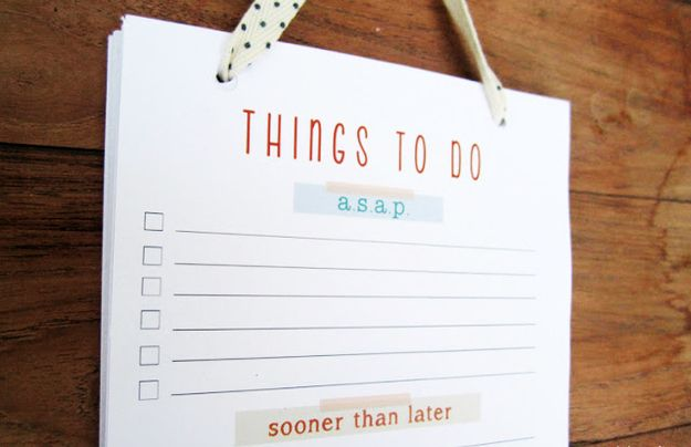 Keep lists. | 10 DIY Tips For Keeping Your New Year's Resolutions