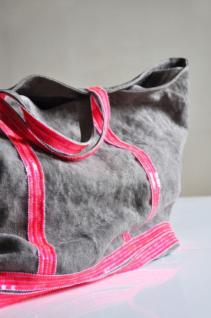 Vanessa Bruno CABAS MOYEN - Shopping Bag - rose fluo