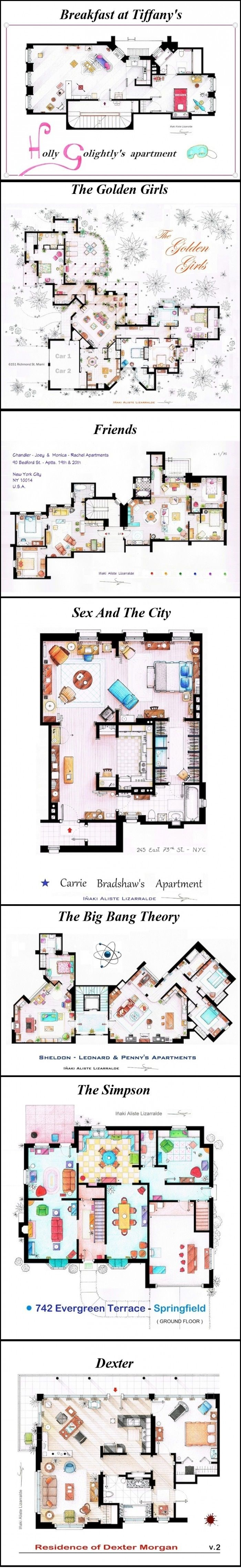 25 best hotel plan images on pinterest architecture apartment floorplans from tv shows