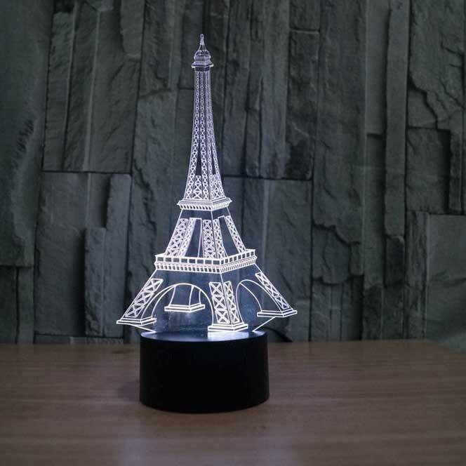 Eiffel Tower 3d Illusion Lamp 3d Illusion Lamp 3d Led Lamp Eiffel Tower Decorations