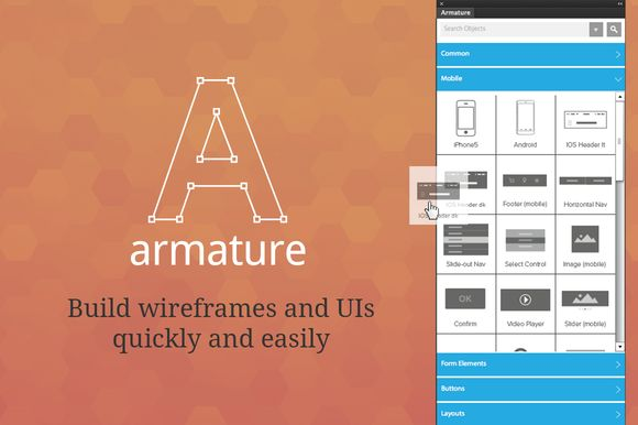 Check out Armature - drag-n-drop wireframing by Greygoo on Creative Market$24