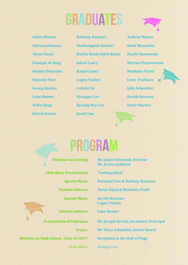 11 best commencement images on Pinterest Packaging, Graduation - graduation program