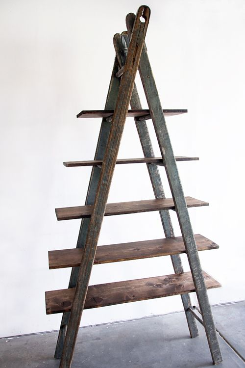 99 best images about Ladders Creative Reuses – Diy Ladder Bookcase