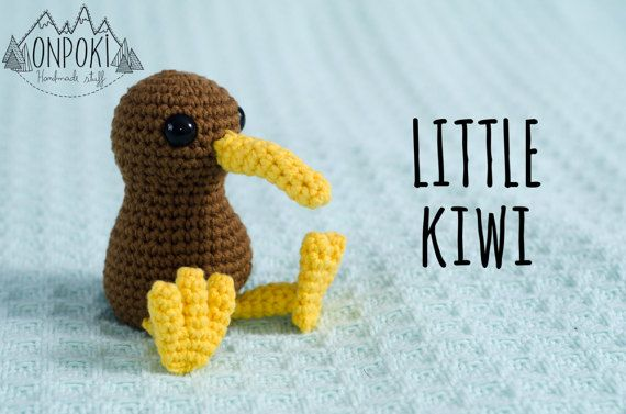 This adorable kiwi is handmade crocheted with 80% Cotton and 20% synthetic yarn (that makes the cotton softer) in a free smoke-pet house and was stuffed with high quality polyester stuffing.  It was made with reinforced stitches and safety eyes that will not come apart...ever! having in mind the little ones in the family and also to make it a part of your life for a long long time. Machine washable. Comes with easy instructions. Perfect for an original gift for someone you love or yourself…