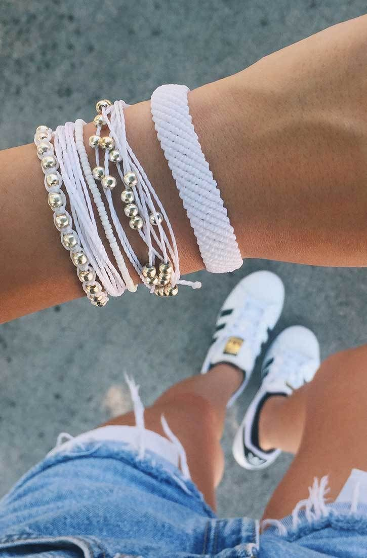 Pearly Whites | Pura Vida Bracelets  Use code KRISTABRANDT20 to save 20%