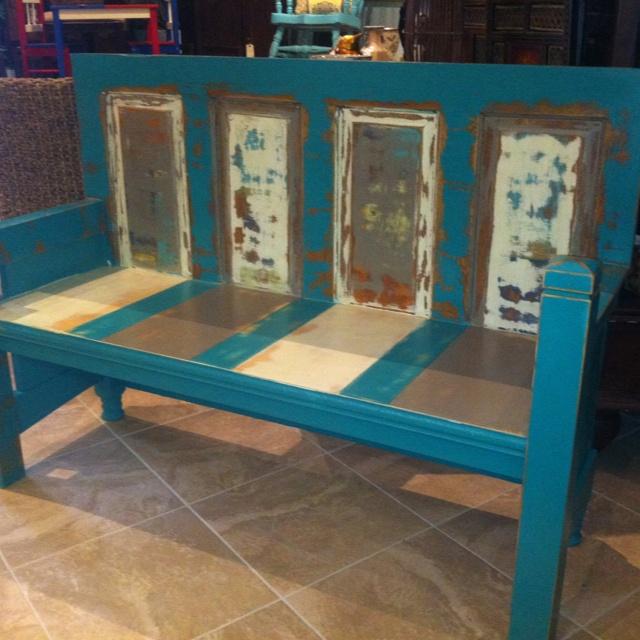 Custom made bench from doorDoors Ideas, Custom Built, 699 00, Etsy, Crafty, Doors Benches, Old Doors, Built Benches, Crafts