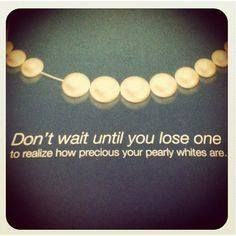 Don't wait until you lose one! Stay on top of your regular #dental exams! #dental2000nj