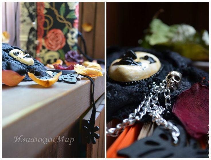 Купить Lady's Calavera Книга и браслет-ошейник Оригинальный Необычный Подарок - черный